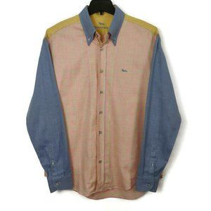 Harmont & Blaine Pastel Plaid Button Down Shirt